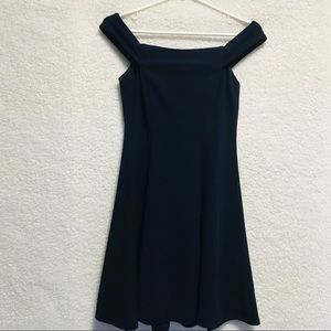 TEEZE ME Navy Blue Fit and Flare Dress